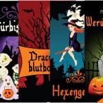 etiketten zum halloween kindergeburtstag